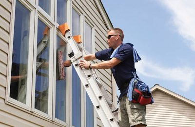 Window cleaning – Consider hiring a professional